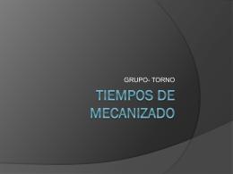 TIEMPOS DE MECANIZADO - Mecanizadoelarenal`s Blog