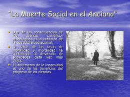 """Muerte Social""""."""