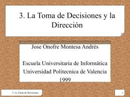 3. La Toma de Decisiones