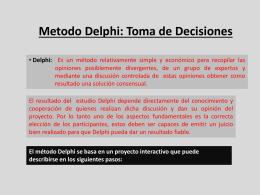 Metodo Delphi: Toma de Decisiones