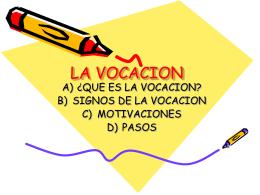 LA VOCACION - .: Josefinos de San Leonardo