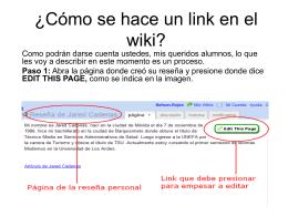 ¿Cómo se hace un link en el wiki?