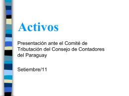 ACTIVO FIJO - Consejo de Contadores