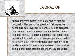 LA ORACION - MIREDFREDY