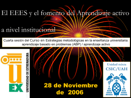 Plan de la sesión - Prof Dr Alberto Romero Ania -