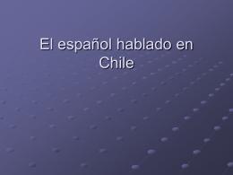 El español hablado en Chile