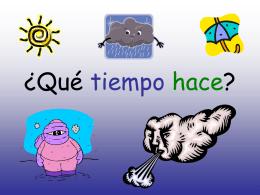 Qué tiempo hace? - Languages Resources