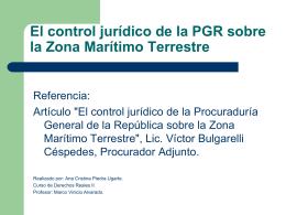 El control jurídico de la PGR sobre la ZMT