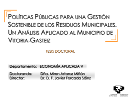 Defensa Tesis Doctoral