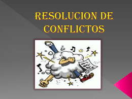 RESOLUCION DE CONFLICTOS - MANUAL DE LA SECRETARIA