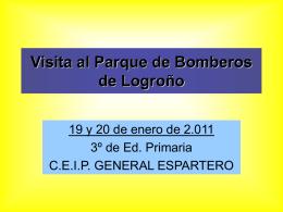 Visita al Parque de Bomberos de Logroño