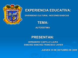 Tema: Autoestima - Universidad Veracruzana