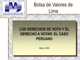 Bolsa de Valores de Lima - OECD.org