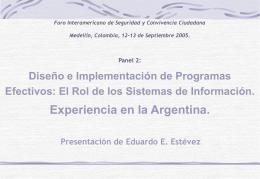 Presentación Experiencia Argentina