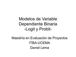 Modelos de Variable Dependiente Binaria