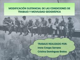 MODIFICACIÓN SUSTANCIAL DE LAS CONDICIONES DE
