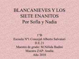 BLANCANIEVES Y LOS SIETE ENANITOS - de21-2010 -