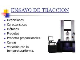 ENSAYO DE TRACCION - Ciencia de los Materiales