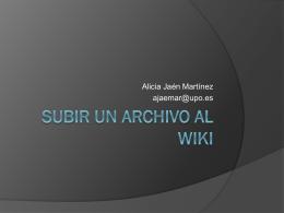 SUBIR ARCHIVOS WIKISPACES