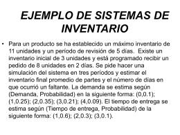 EJEMPLO DE SISTEMAS DE INVENTARIO