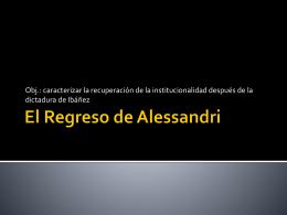 El Regreso de Alessandri
