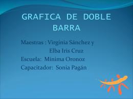 GRAFICA DE DOBLE BARRA - .: Alacima :. Alianza