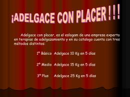 AG2- Adelgace con placer