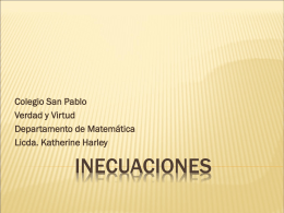 INECUACIONES - Relufeas