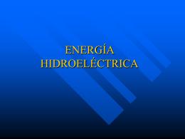 ENERGÍA HIDROELECTRICAS