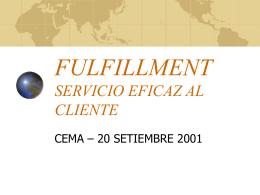 FULFILLMENT SERVICIO EFICAZ AL CLIENTE