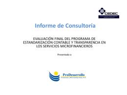 Informe de Consultoría