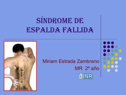 Síndrome de espalda fallida