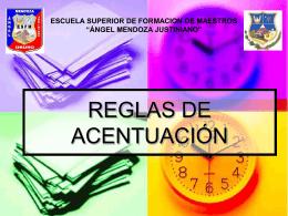 REGLAS DE ACENTUACIÓN -