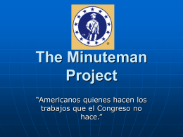 The Minuteman Project