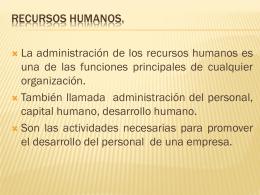 RECURSOS HUMANOS.
