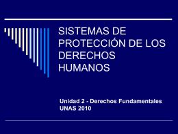 SISTEMA DE PROTECCIÓN DE LOS DERECHOS HUMANOS