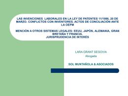 LAS INVENCIONES LABORALES EN ESPAÑA