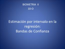 Estimación por intervalo en la regresión: Bandas