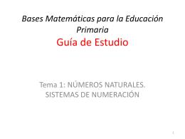NÚMEROS NATURALES - Matematicas 2016