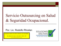 Servicio Outsourcing en Salud & Seguridad