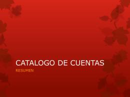 CATALOGO DE CUENTAS -
