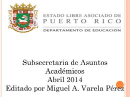 Estrategias Académicas Subsecretaría Para Asuntos