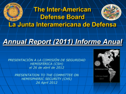 La Junta Interamericana de Defensa (JID)