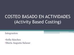 COSTEO BASADO EN ACTIVIDADES (Activity Based