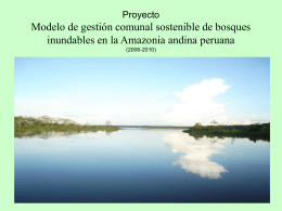 PROYECTO BOSQUES INUNDABLES
