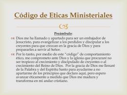 """El """"Contrato Ético"""" de Ministros"""
