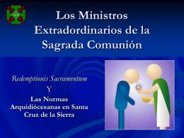 Ministros Extradordinarios de la Sagrada Comunión