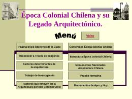 La Arquitectura en la época Colonial Chilena