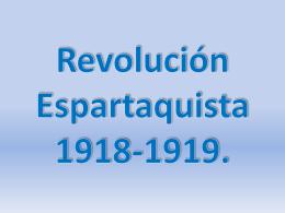 Revolución Esparta quista 1918