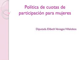 Política de cuotas de participación para mujeres